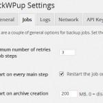 BackWPupのタイムアウトによるリスタートを改善させ、バックアップを完了させる方法