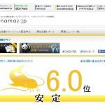 Googleの検索順位の大変動がわかる「namaz.jp」